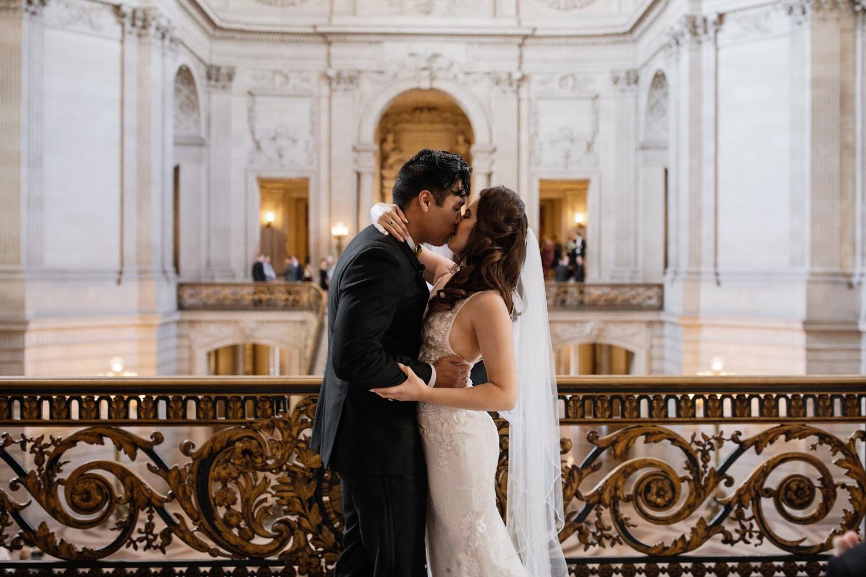 Intimate San Francisco City Hall Wedding Sebastien Bicard