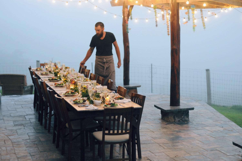 foggy wedding hawaii