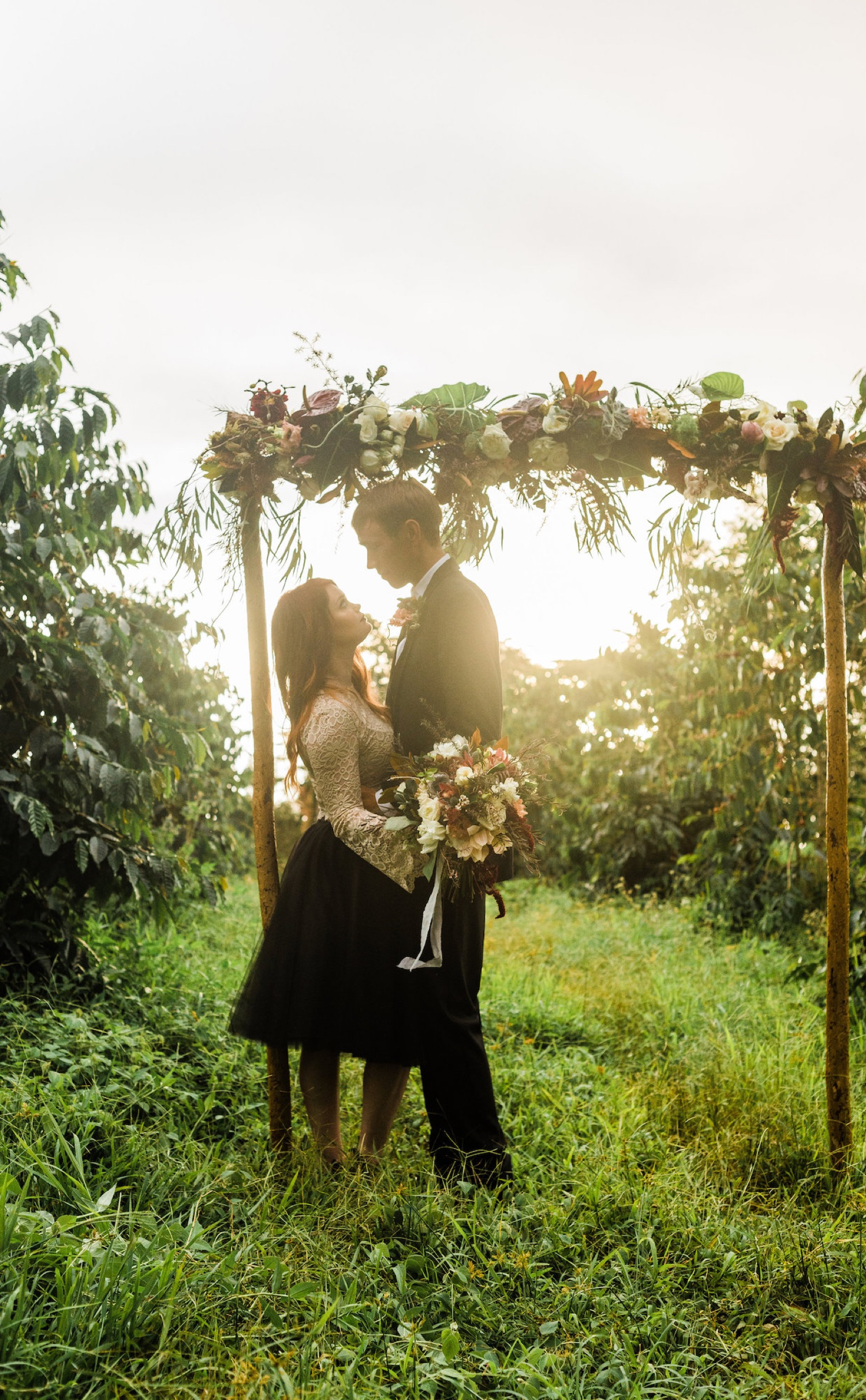coffee orchard elopement
