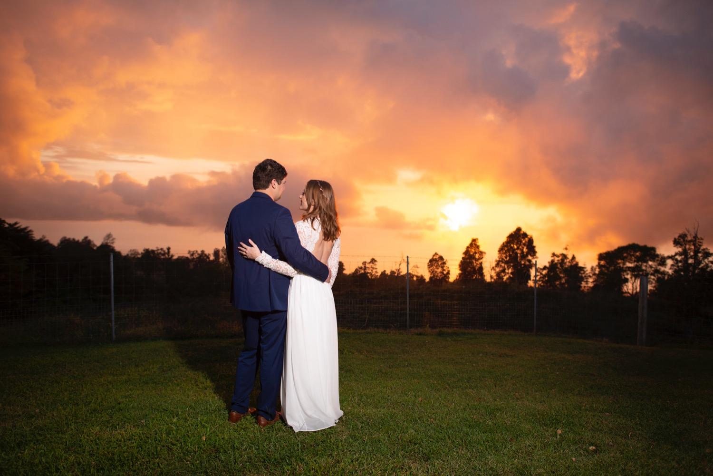 sunset wedding hawaii
