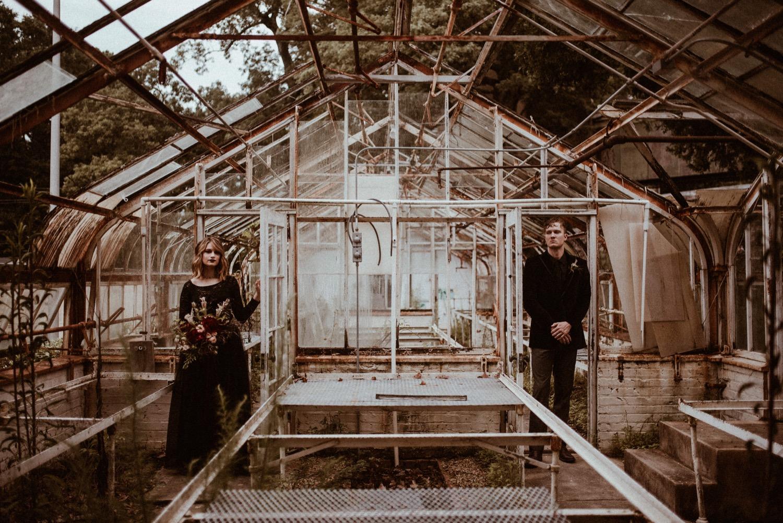 Abandoned Greenhouse Styled Elopement   Atlanta, GA