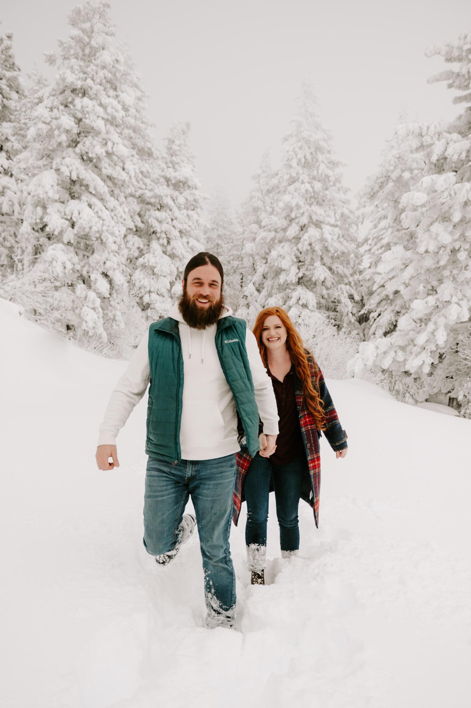 Snowy Mountain Engagements at Bogus Basin in Idaho.