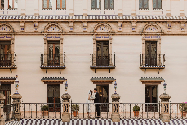 Boda en hotel Alfonso XIII Sevilla desde Australia