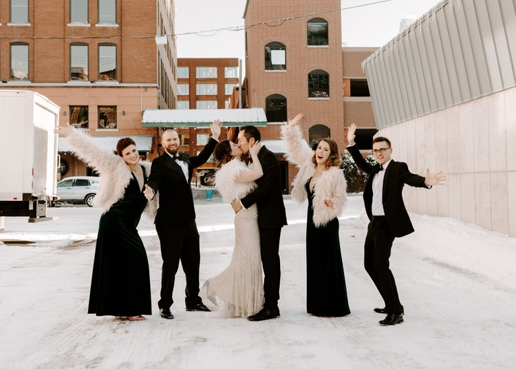 The Neu Neu Nye Wedding In North Loop Madison Delaney Photography,Lace Wedding Dresses For Tall Brides