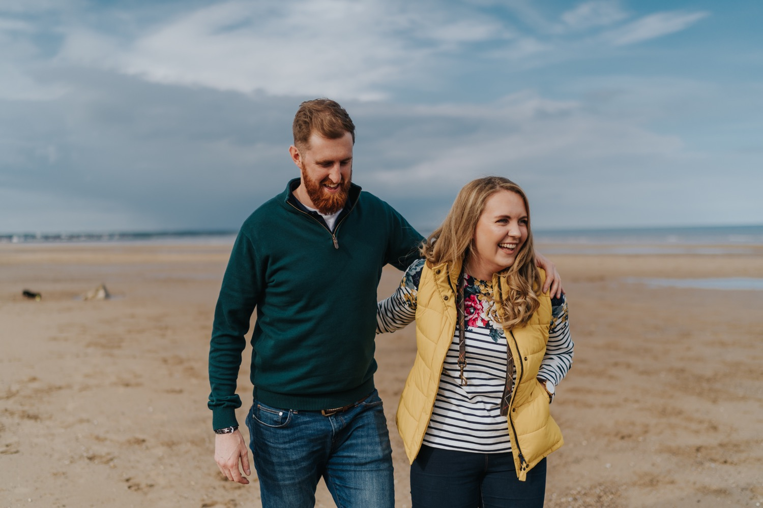 Hayley & Nick | Fraisthorpe Beach Engagement shoot 1