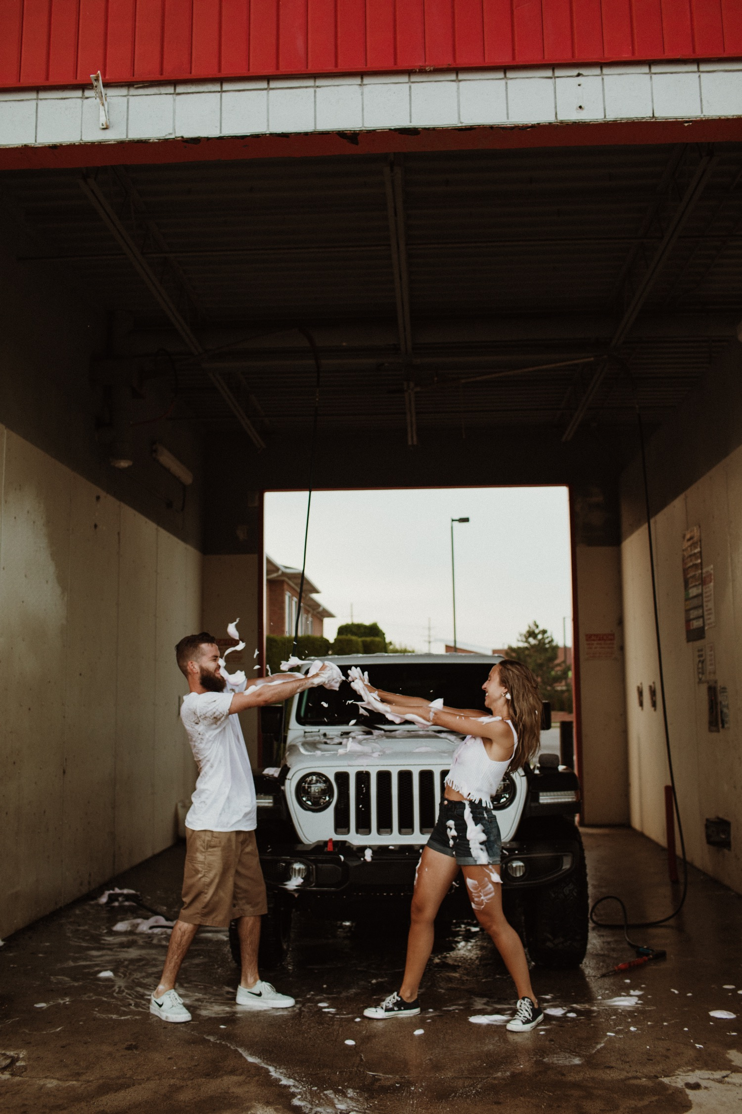 Car Wash Couple Session Chase Kailee Mollygrunewald Com