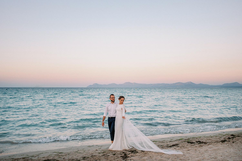 Couple Wedding Photoshoot at Playa de Muro Mallorca 1