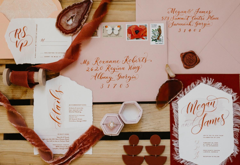 bohemian wedding invitations wedding details