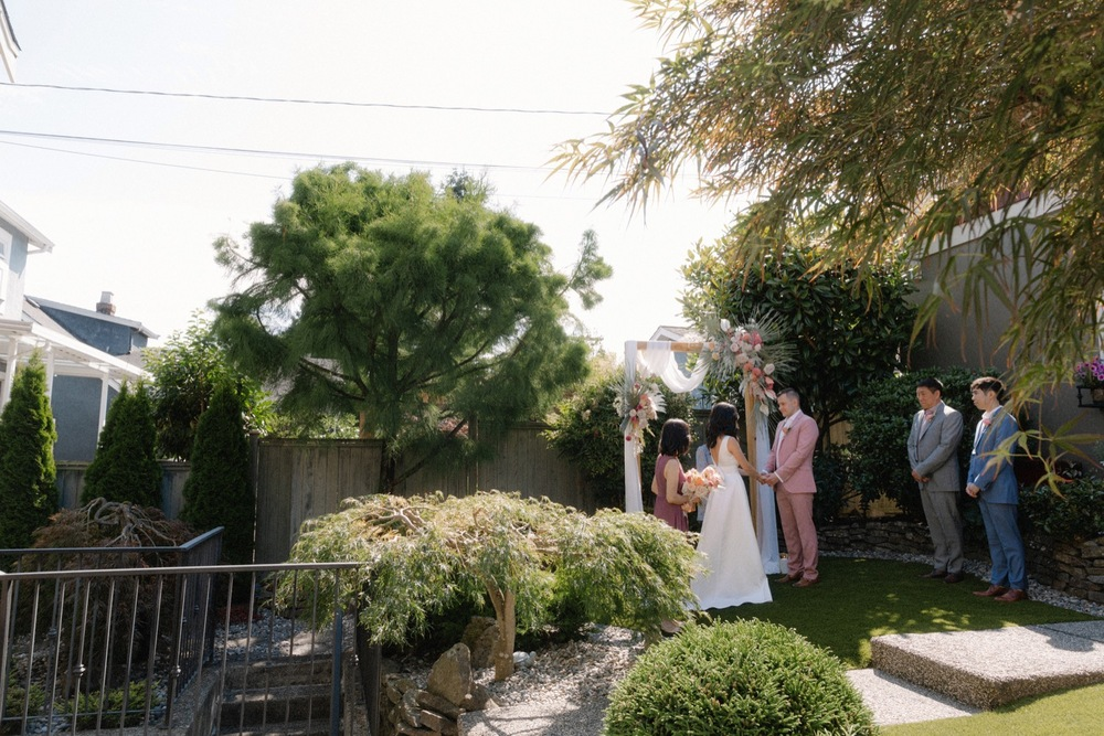 couple plans a backyard micro wedding in vancouver during covid