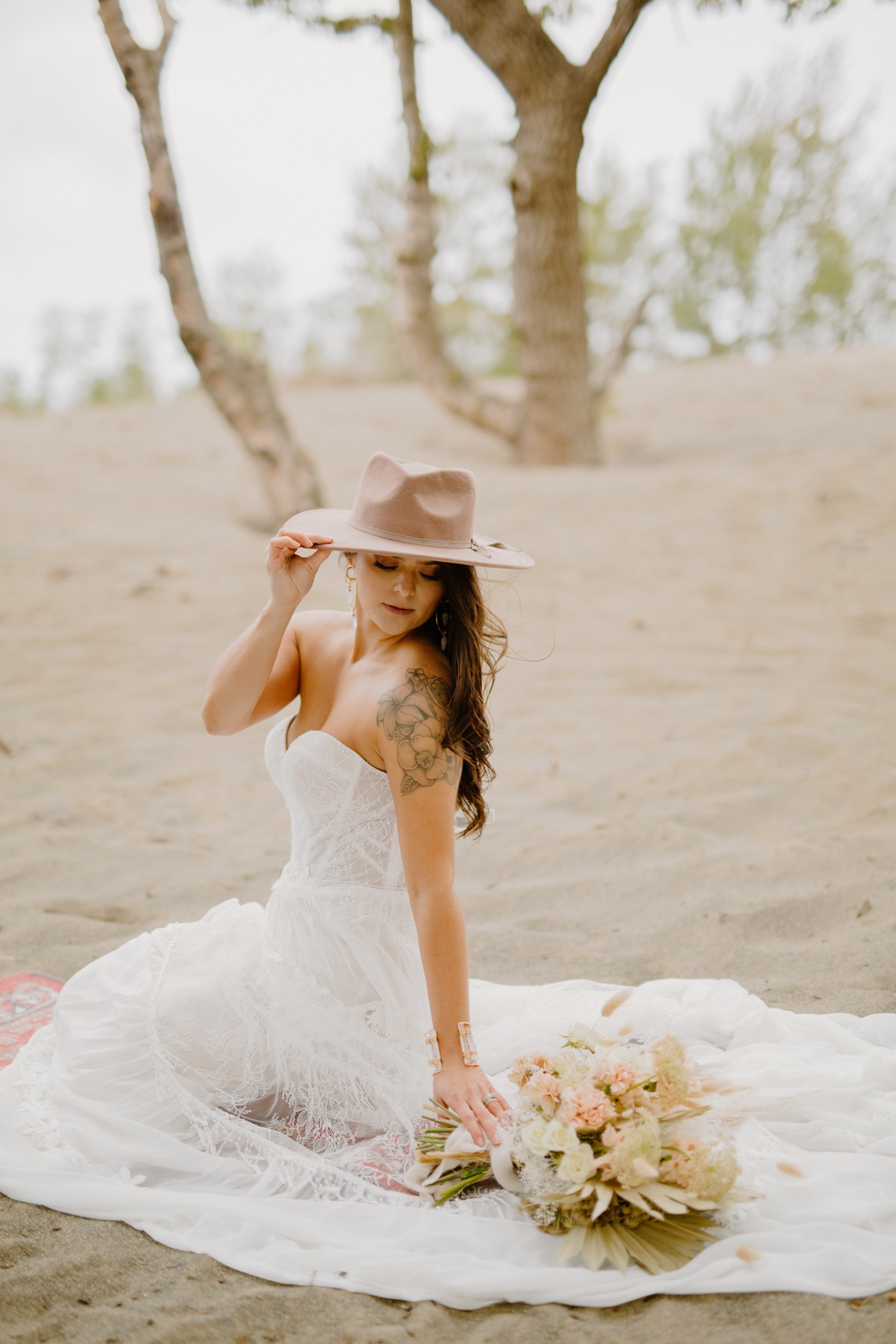 Pampas Grass Bridal Inspiration North Carolina Elopement Photographer Juliana Renee Photography