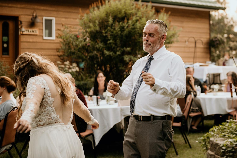 Backyard Wedding in Orofino Idaho.