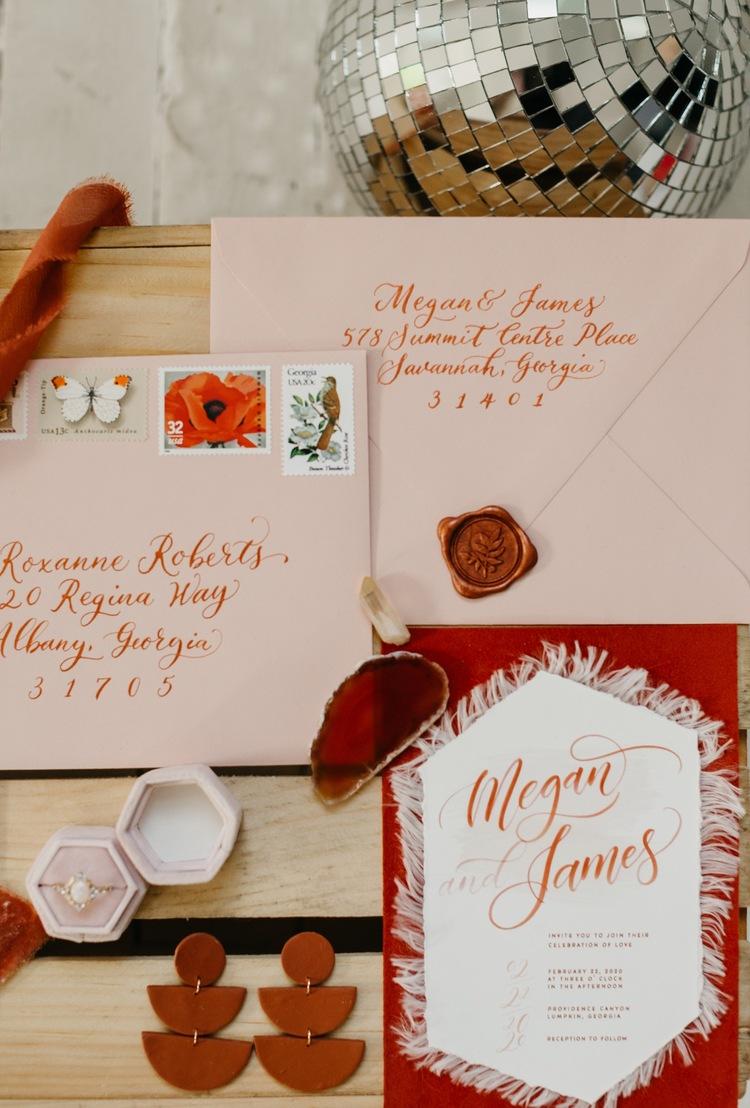 trendyelopement pastel invitations