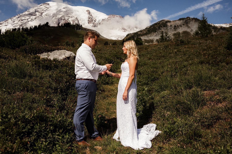 Mt. Rainier Vow Renewal