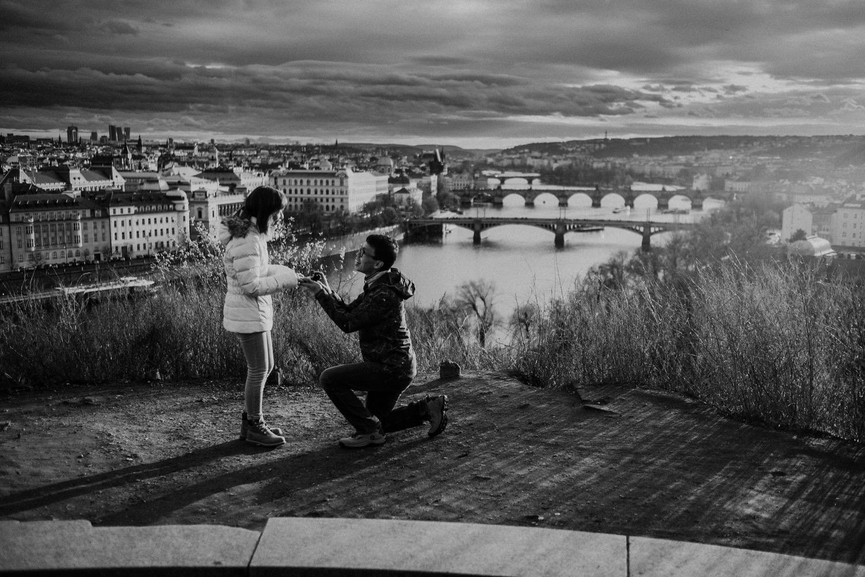 Surprise proposal in Prague