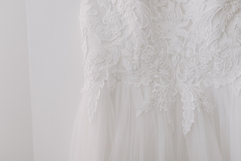 Häämekko yksityiskohdat wedding dress details